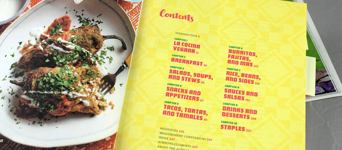 """Inhaltsverzeichnis von """"¡Salud! Vegan Mexican Cookbook"""""""