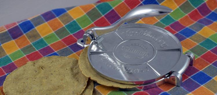 Tortilla-Presse aus Aluminium